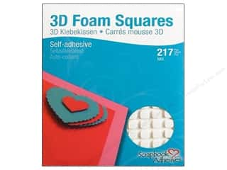 therm o web foam adhesive: 3L Scrapbook Adhesives 3D Foam Squares 217 pc. White Mix