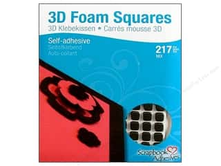 SCRAPBOOK ADHESIVES BY 3L 3D Foam Sq .25&quot;&amp;.5&quot; Blk