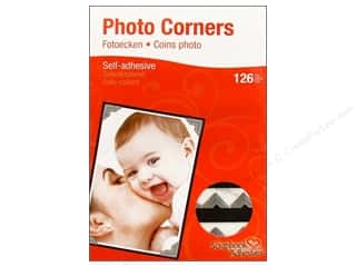 3L Scrapbook Adhesives Photo Corners Paper 126pc Silver