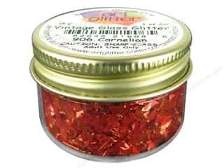 Art Institute Glitter 1oz Glass Shards Carnelian