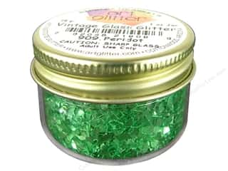 Art Institute Glitter 1oz Glass Shards Peridot