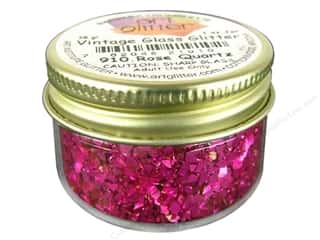 Clearance: Art Institute Glitter 1oz Glass Shards Rose Quartz