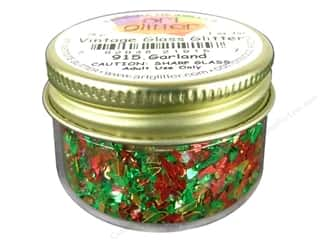 Art Institute Glitter Glow: Art Institute Glitter Shards Vintage Glass Glitter 1 oz. Garland