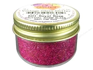 Fine Vintage Glass Glitter Royal Rose 1 oz.