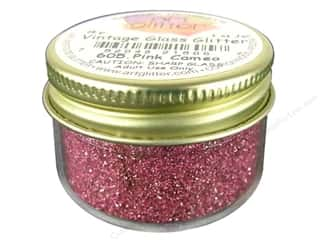 Art Institute Glitter: Fine Vintage Glass Glitter Pink Cameo 1 oz.