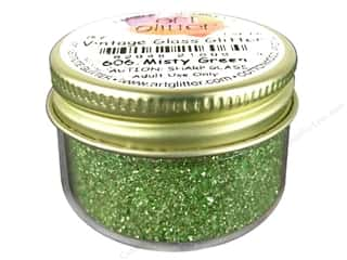 Holiday Gift Ideas Sale Art: Fine Vintage Glass Glitter Misty Green 1 oz.