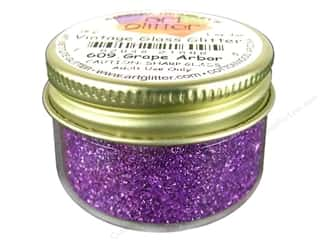 Glasses Basic Components: Fine Vintage Glass Glitter by Art Institute Grape Arbor 1 oz.