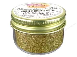 Fine Vintage Glass Glitter Golden Glow 1 oz.