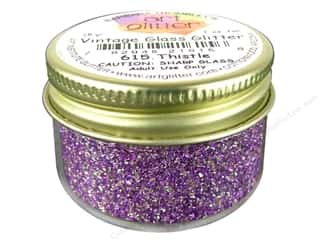 Fine Vintage Glass Glitter Thistle 1 oz.