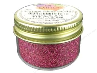 Glasses Basic Components: Fine Vintage Glass Glitter by Art Institute Primrose 1 oz.