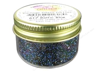 Fine Vintage Glass Glitter Baltic Blue 1 oz.