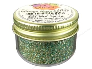 Clearance Art Institute Fine Glass Glitter 1oz: Fine Vintage Glass Glitter Sea Sprite 1 oz.
