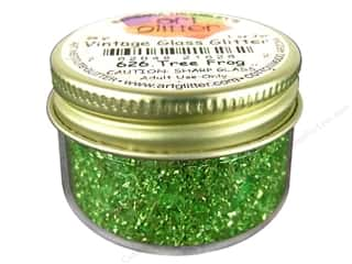 Fine Vintage Glass Glitter Tree Frog 1 oz.
