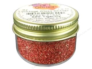 March Madness Sale Glitter Blast: Fine Vintage Glass Glitter Tigerlily 1 oz.