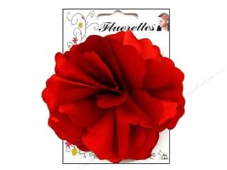 Mark Richards: Mark Richards Fluerettes Flower Satin Red