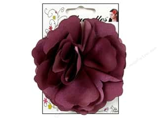 Mark Richards Fabric Flowers: Mark Richards Fluerettes Flower Satin Purple