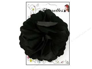 Mark Richards Fabric Flowers: Mark Richards Fluerettes Flower Satin Black