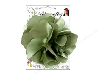 Mark Richards Fabric Flowers: Mark Richards Fluerettes Flower Satin Sage