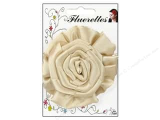 Mark Richards Fluerettes Flower Rose Beige