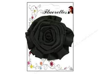 Mark Richards Fabric Flowers: Mark Richards Fluerettes Flower Rose Black