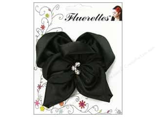 Mark Richards Fluerettes Flower Satin w/Rnstns Blk