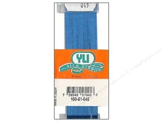 yli silk embroidery floss: YLI 4 mm Silk Ribbon Dark Williamsburg Blue 5 yd.