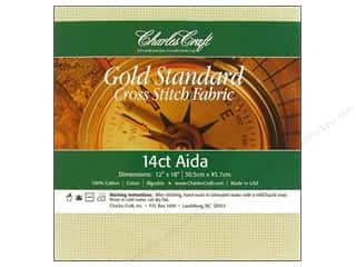 "Cross Stitch Cloth / Aida Cloth 10"": Charles Craft Gold Standard 14-count Aida Cloth 12 x 18 in. Ivory"