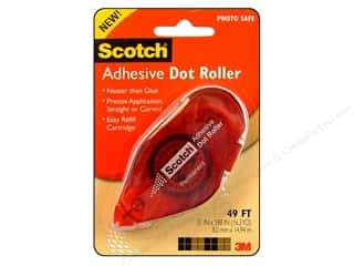 Scotch Adhesive Dot Roller Permanent 49' Red