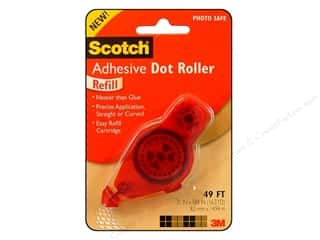 Scotch Adhesive Dot Roller Refill Perm 49' Red