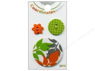 Buttons: Blumenthal 2 Hole Buttons Autumn Leaves 3 pc.