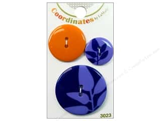 Clearance Blumenthal Favorite Findings Clearance Crafts: Blumenthal Buttons Purple Silhouette 3 pc.