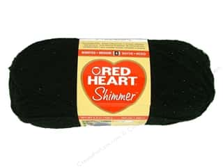 Red Heart Shimmer Yarn Snow Black 3.5 oz.
