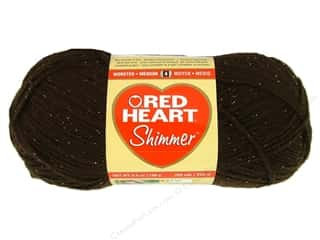 shimmer yarn: Red Heart Shimmer Yarn 3.5 oz. Chocolate