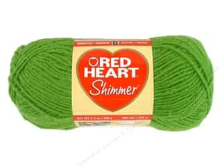Clearance C&C TLC Essentials Yarn: Red Heart Shimmer Yarn 3.5 oz. Lime