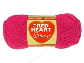 hot: Red Heart Shimmer Yarn 3.5 oz. Hot Pink