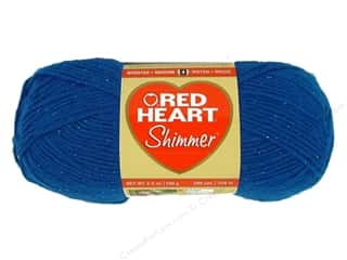 Clearance TLC Essentials Yarn: Red Heart Shimmer Yarn 3.5 oz. Royal