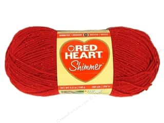 Yarn, Knitting, Crochet & Plastic Canvas: Red Heart Shimmer Yarn 3.5 oz. #1929 Red