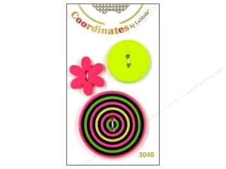 Clearance Blumenthal Favorite Findings Clearance Crafts: Blumenthal 2 Hole Buttons Hoops 3 pc.
