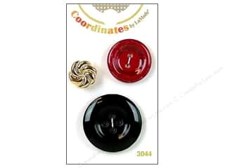 Clearance Blumenthal Button Coordinates: Blumenthal Button Coordinates Blk/Burgundy/Gld 3pc