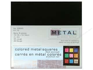 Creative Metal Aluminum Squares 4 in. Black