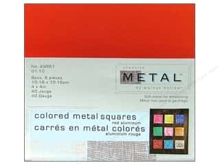 Creative Metal Aluminum Squares 4 in. Red