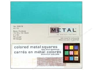 Creative Metal Aluminum Squares 4 in. Light Blue