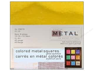 Creative Metal Aluminum Squares 4 in. Yellow