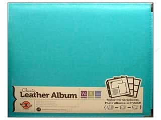 We R Memory Album 12x12 Leather Ring Aqua