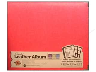 We R Memory Album 12x12 Leather Ring Strawberry
