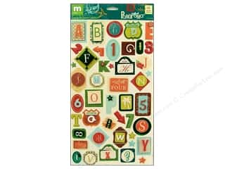 Making Memories Burgundy: Making Memories Stickers Panorama Alphabet Monogram