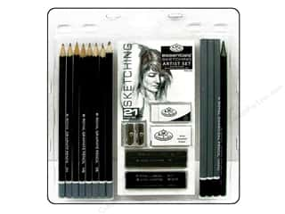 Rub-Ons Blue: Royal Artist Essentials Set Sketching 21pc