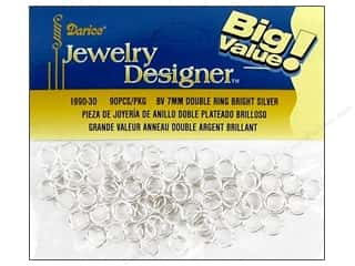 Darice JD Split Ring Double 7mm Silver 90pc