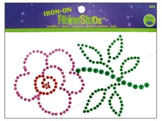 Dritz Iron On RhineStuds Medium Flower