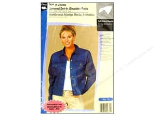 "Dritz Shoulder Pads Covered Set In 1/2"" White"
